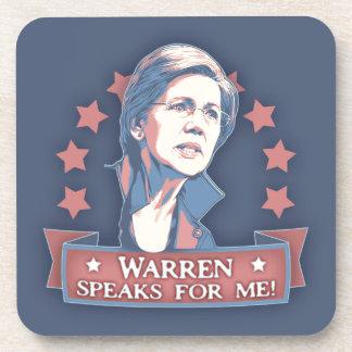 Warren Speaks For Me Drink Coaster