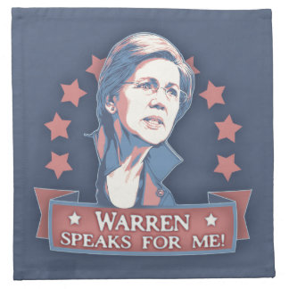 Warren Speaks For Me Napkin