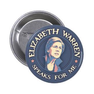 Warren Speaks For Me Pinback Button