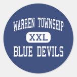 Warren Township - Blue Devils - High - Gurnee Round Sticker