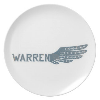 Warren Wing Democrat Melamine Plate