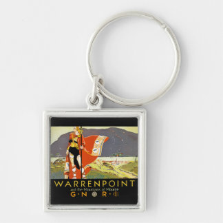 Warrenpint and the Mountians of Mourne Keychain