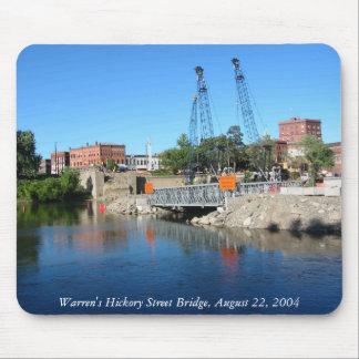 Warren's Hickory St. Bridge Construction Mousepad