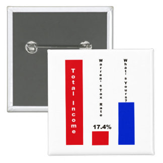 Warren's Tax Rate 2 Inch Square Button