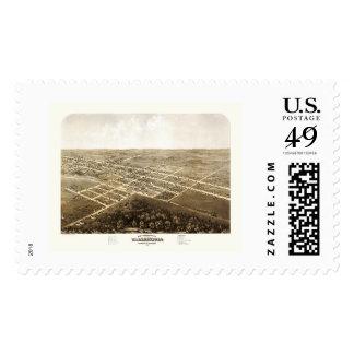 Warrensburg, MO Panoramic Map - 1869 Postage