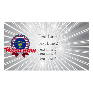 Warrenton, OR Business Card Template