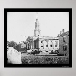 Warrenton, VA Courthouse 1862 Print