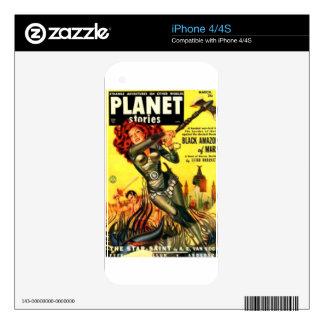 Warrier Maiden on Mars Decals For iPhone 4