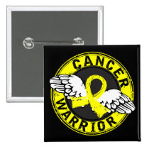 Warrior 14C Bladder Cancer Pinback Button