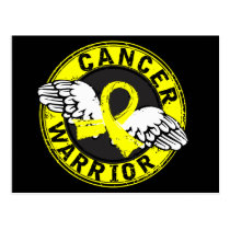 Warrior 14C Bladder Cancer Postcard