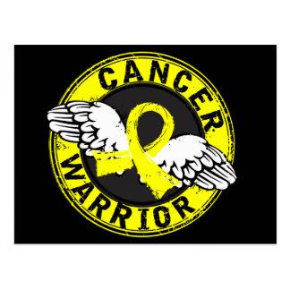 Warrior 14C Bladder Cancer Postcard