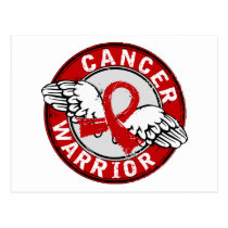 Warrior 14C Blood Cancer Postcard