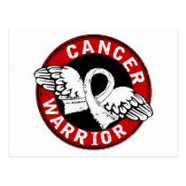 Warrior 14C Bone Cancer Postcard