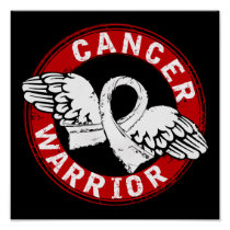 Warrior 14C Bone Cancer Poster