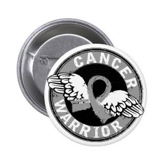Warrior 14C Brain Cancer Pinback Button