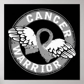 Warrior 14C Brain Cancer Poster