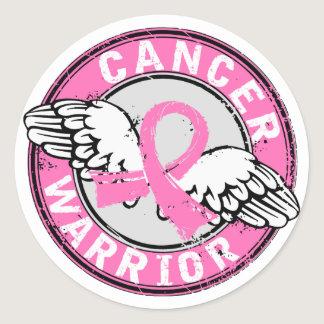 Warrior 14C Breast Cancer Classic Round Sticker