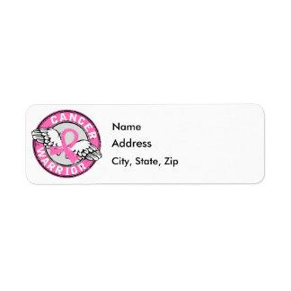 Warrior 14C Breast Cancer Label