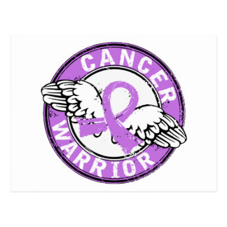 Warrior 14C Cancer Postcard