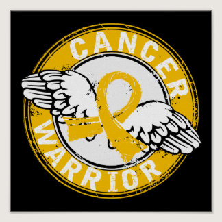 Warrior 14C Childhood Cancer Poster
