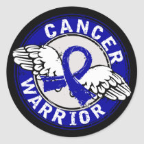 Warrior 14C Colon Cancer Classic Round Sticker