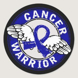 Warrior 14C Colon Cancer Classic Round Sticker