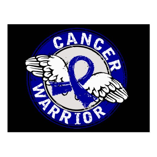 Warrior 14C Colon Cancer Postcard