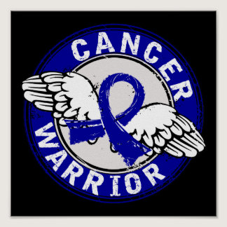 Warrior 14C Colon Cancer Poster