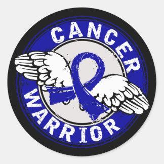 Warrior 14C Colon Cancer Round Stickers