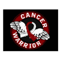 Warrior 14C Head and Neck Cancer Postcard