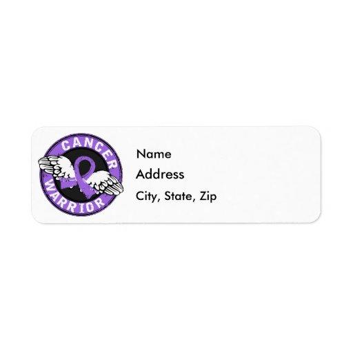 Warrior 14C Hodgkin's Lymphoma Return Address Label