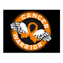 Warrior 14C Kidney Cancer Postcard