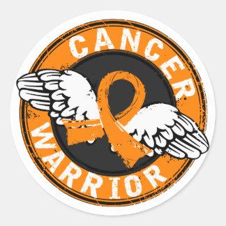 Warrior 14C Leukemia Classic Round Sticker