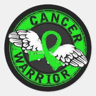 Warrior 14C Non-Hodgkin's Lymphoma Round Stickers
