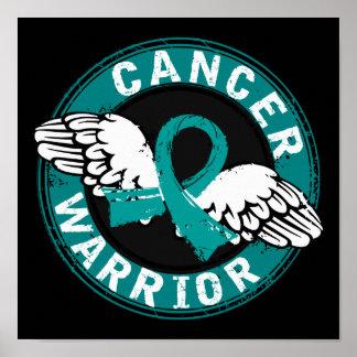 Warrior 14C Ovarian Cancer Poster