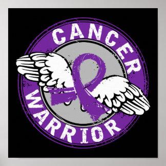 Warrior 14C Pancreatic Cancer Print