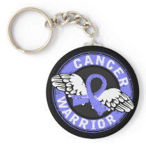 Warrior 14C Prostate Cancer Keychain