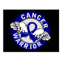 Warrior 14C Rectal Cancer Postcard