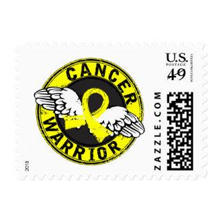 Warrior 14C Testicular Cancer Postage Stamps