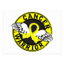 Warrior 14C Testicular Cancer Postcard