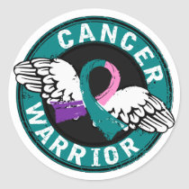 Warrior 14C Thyroid Cancer Classic Round Sticker