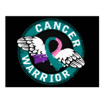 Warrior 14C Thyroid Cancer Postcard