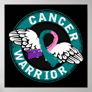 Warrior 14C Thyroid Cancer Poster
