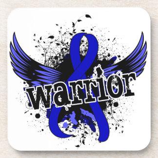 Warrior 16 Anal Cancer Beverage Coasters