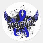 Warrior 16 Arthritis Round Stickers