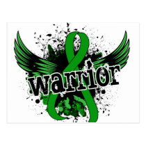 Warrior 16 Bile Duct Cancer Postcard