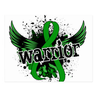 Warrior 16 Bile Duct Cancer Postcard