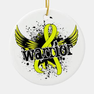 Warrior 16 Bladder Cancer Christmas Tree Ornament