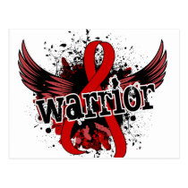 Warrior 16 Blood Cancer Postcard