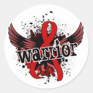 Warrior 16 Blood Cancer Round Sticker